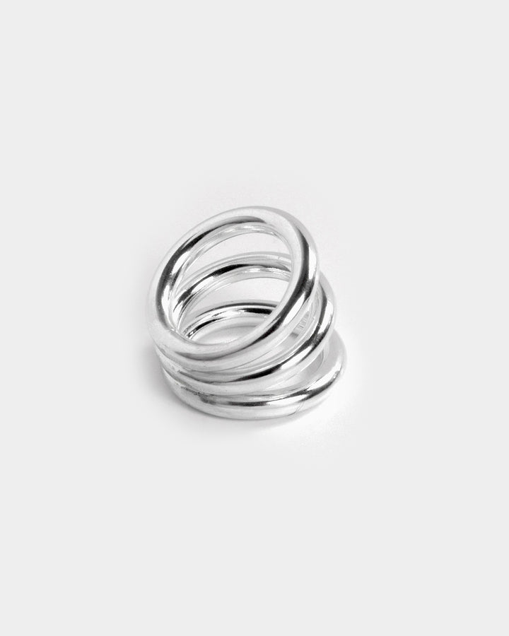 Thrice Around Ring Sterling Silver