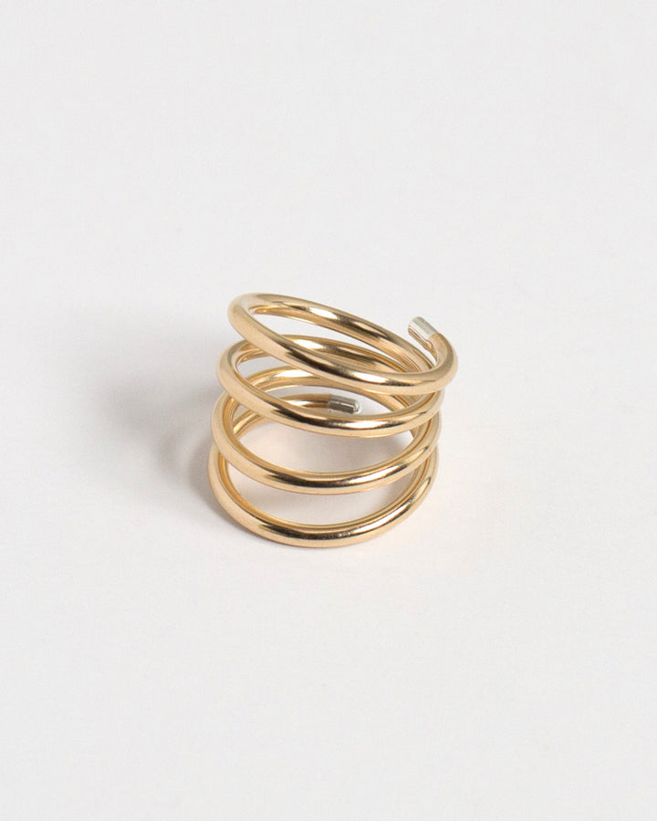 Tipped Coil Ring 14k GF/SS