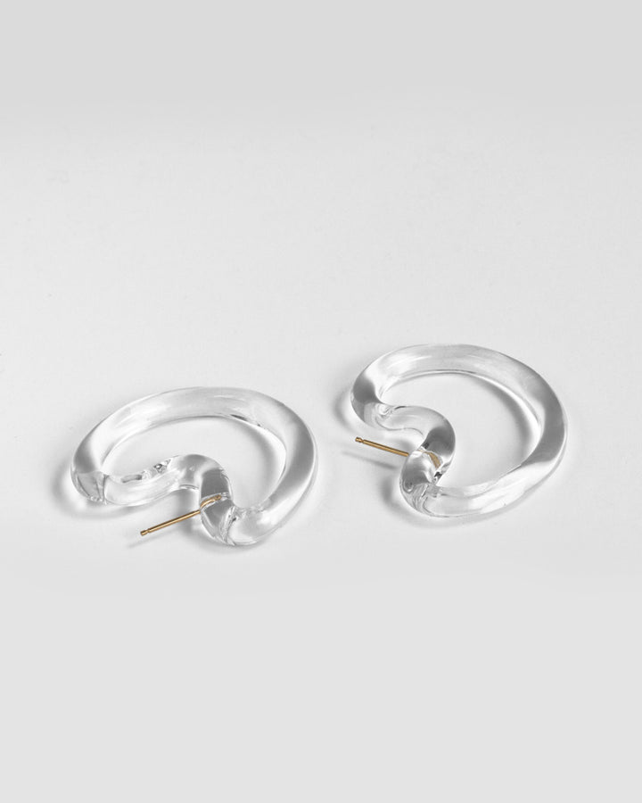 Glassy Indented Hoops Small