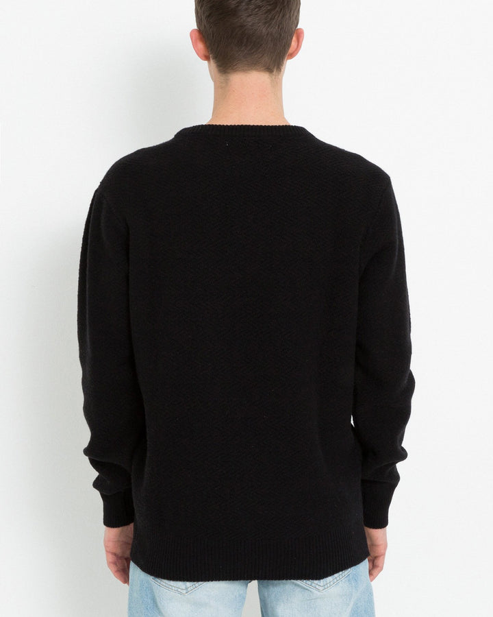 Cassidy Herringbone Sweater Black