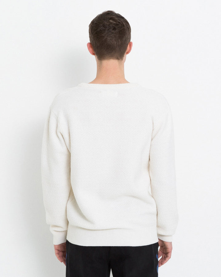 Cassidy Herringbone Sweater Cream