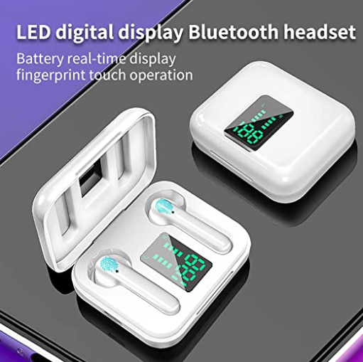 New F9 TWS Wireless Earphone X15  LED Display 5.0 Bluetooth With Mic