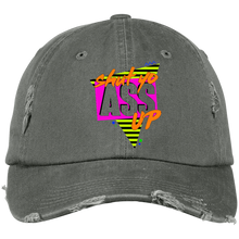 "Load image into Gallery viewer, Shut Yo Ass Up ""Remix"" Distressed Dad Cap"