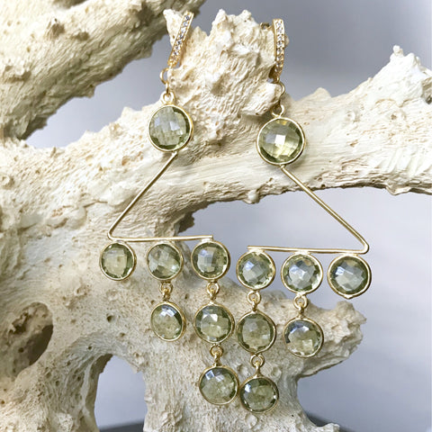 Green Amethyst 'Cascade' Statement