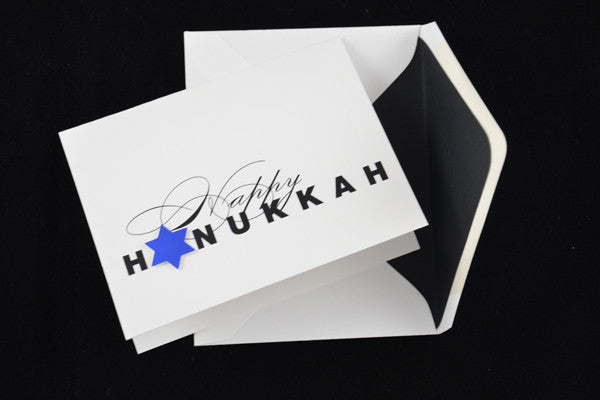 Happy Hanukkah with Foil Star