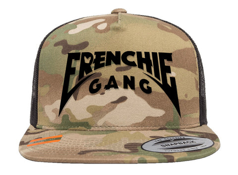 Frenchie Gang Master of Puppies Multi Cam Trucker