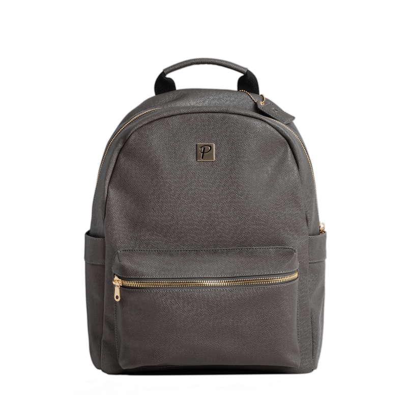 Logan Backpack (Grey and Gold)