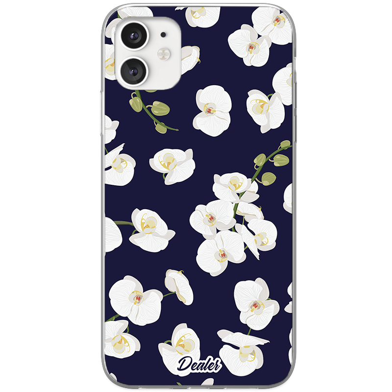 COQUE ORCHIDEE BLANCHE