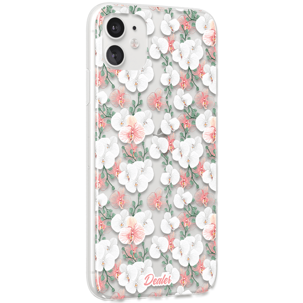 COQUE TRANSPARENTE ORCHIDEE