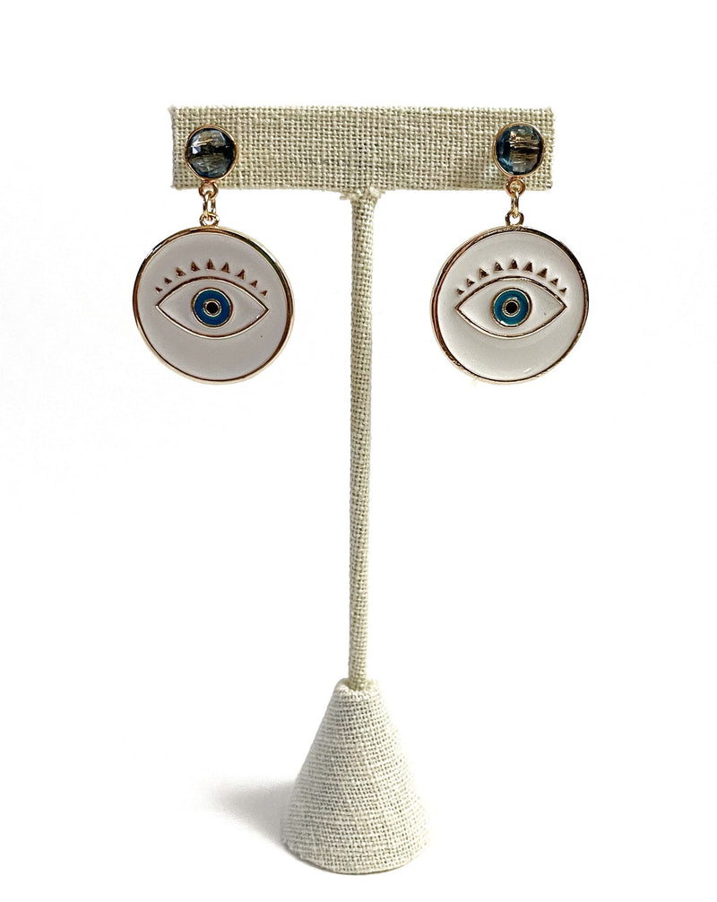 blue gemstone enamel evil evil eyes