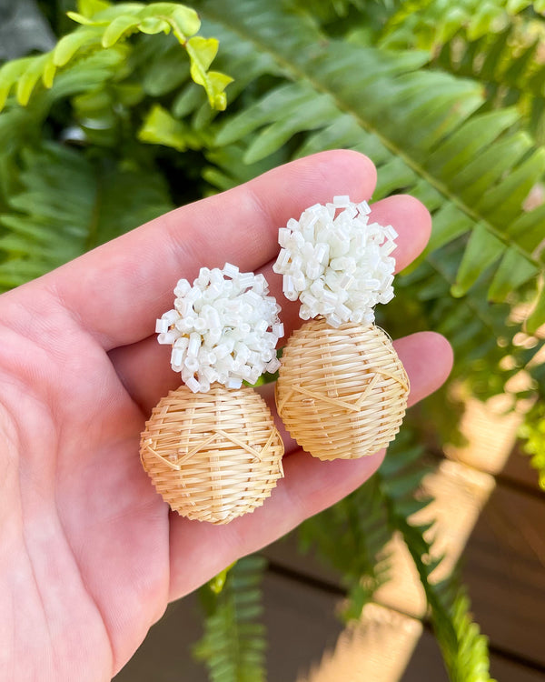 sparkly rattan bauble drops