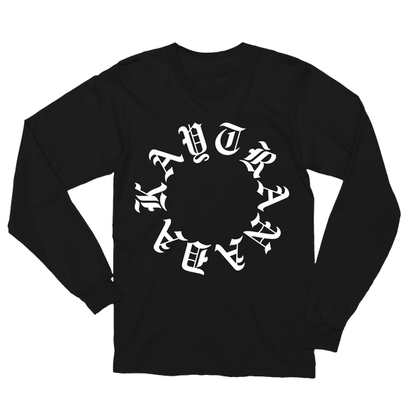 Gothic Circle Long Sleeve Tee - Black + 'BUBBA' Digital Download