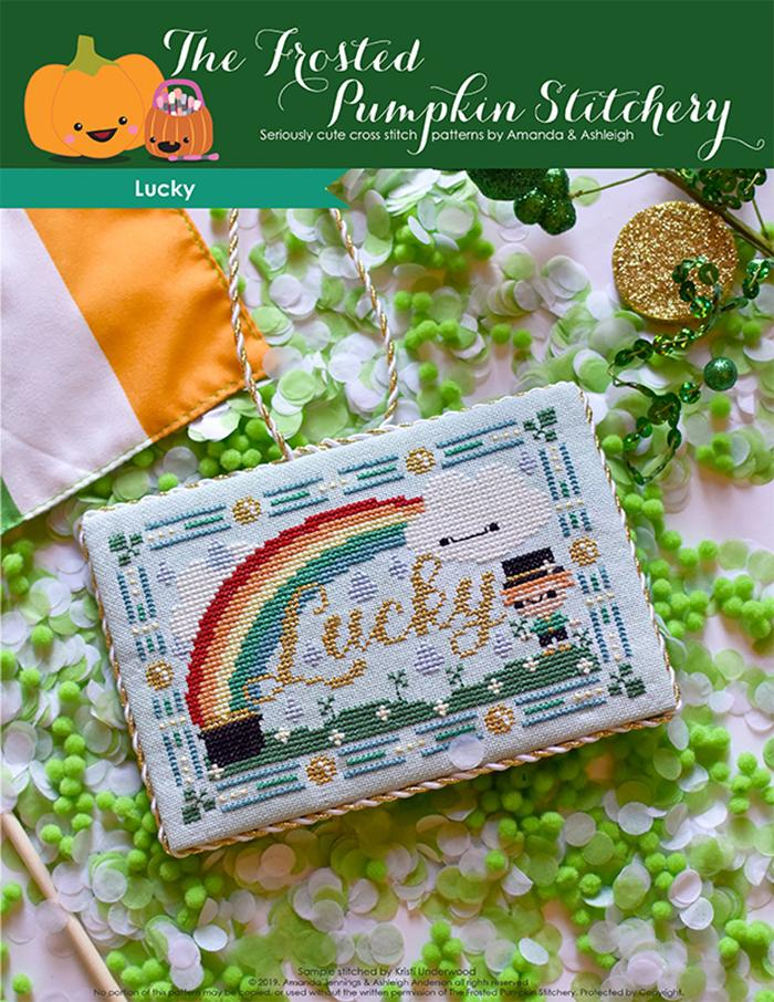 Lucky St. Patrick's Day counted cross stitch pattern