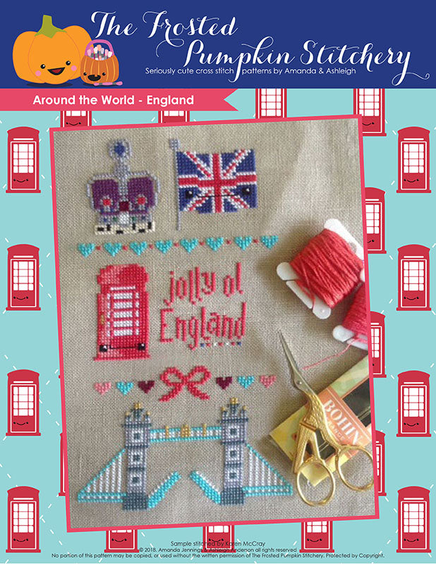 Around the World - England Cross Stitch Pattern