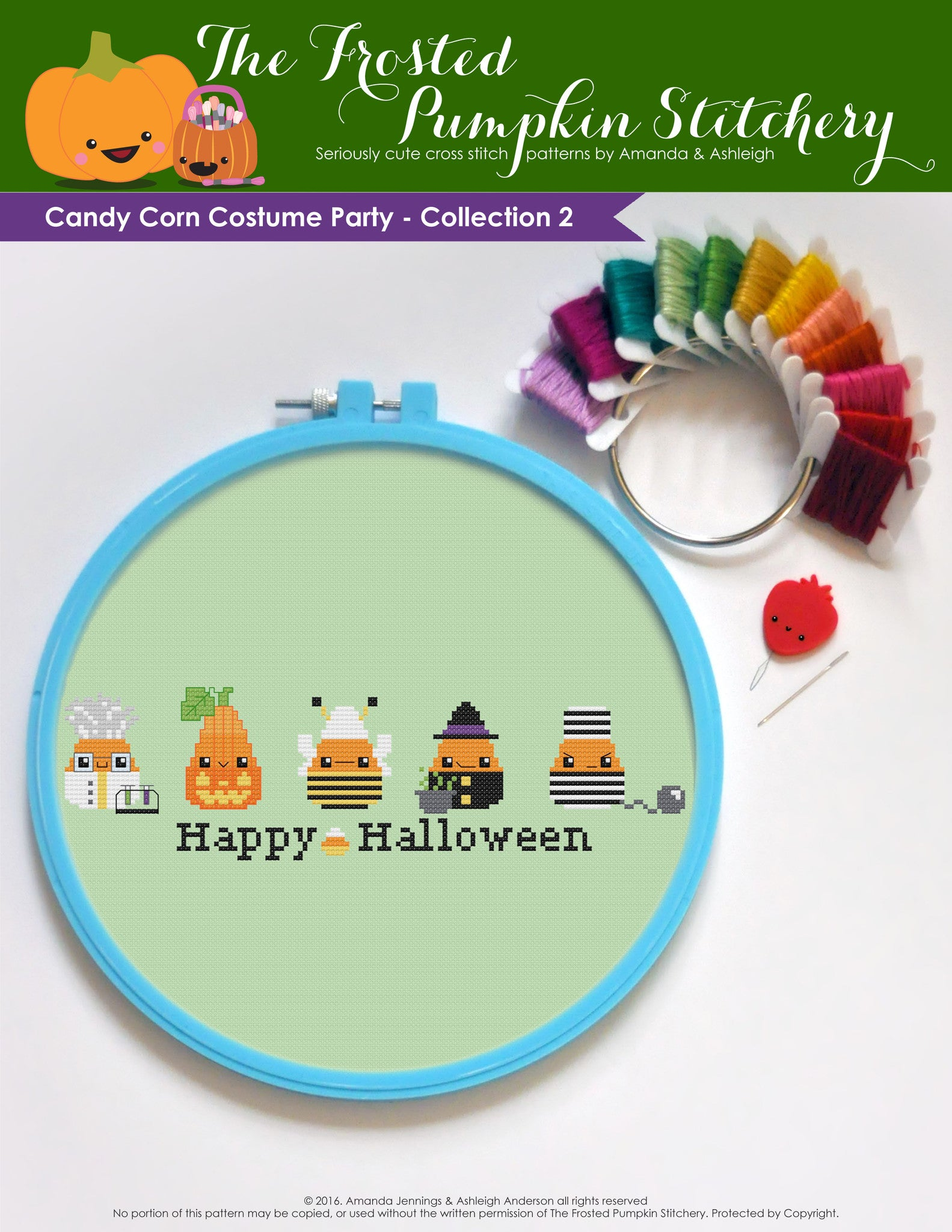 Candy Corn Costume Party - Collection 2 PDF Cross Stitch Pattern