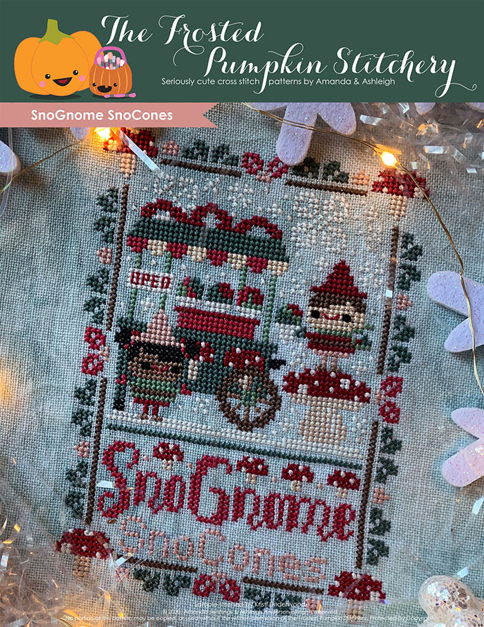Cross Stitch Pattern  SnoGnome SnoCones  The Frosted Pumpkin Stitchery