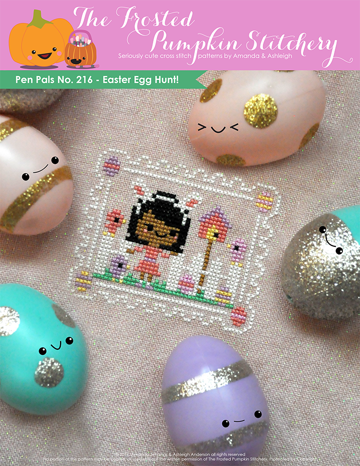 Pen Pals No. 216 Easter Egg Hunt Cross Stitch Pattern