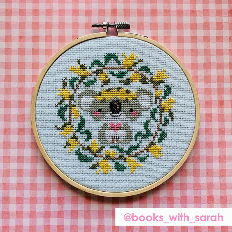 With Love stitched by @books_with_sarah