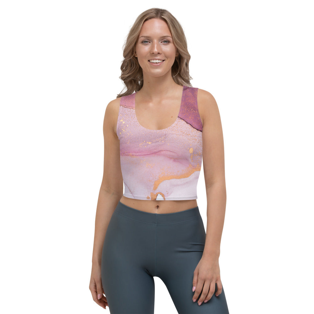 Yoga Crop-Top in rose und gold (Rising Rose)