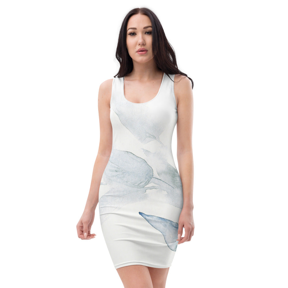 Sublimation-Cut & Sew Kleid (Blue Silence)