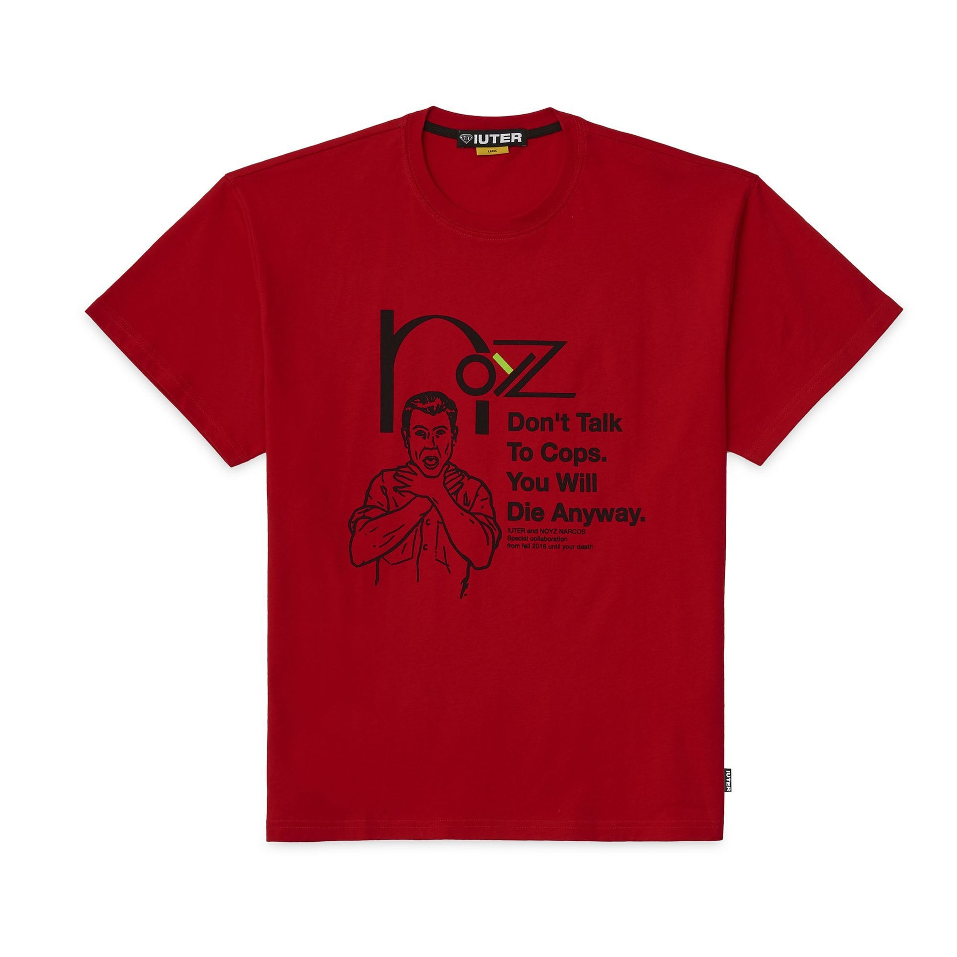 NOYZ NARCOS SNITCH TEE RED