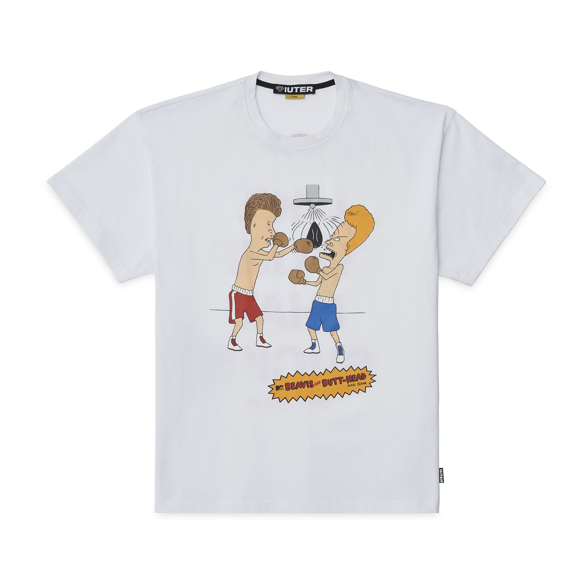 BEAVIS & BUTTHEAD KNOCKOUT TEE WHITE