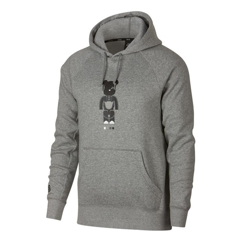 NIKE SB ICON HOODIE X MEDICOM DARK GREY HEATHER / BLACK