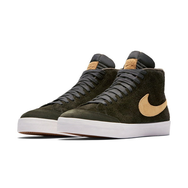 NIKE SB ZOOM BLAZER MID CLUB 58  SEQUOIA / FLT GOLD