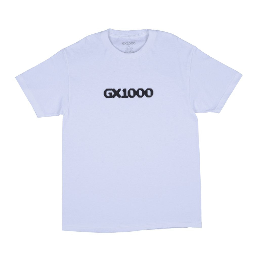 DITHERED LOGO TEE WHITE