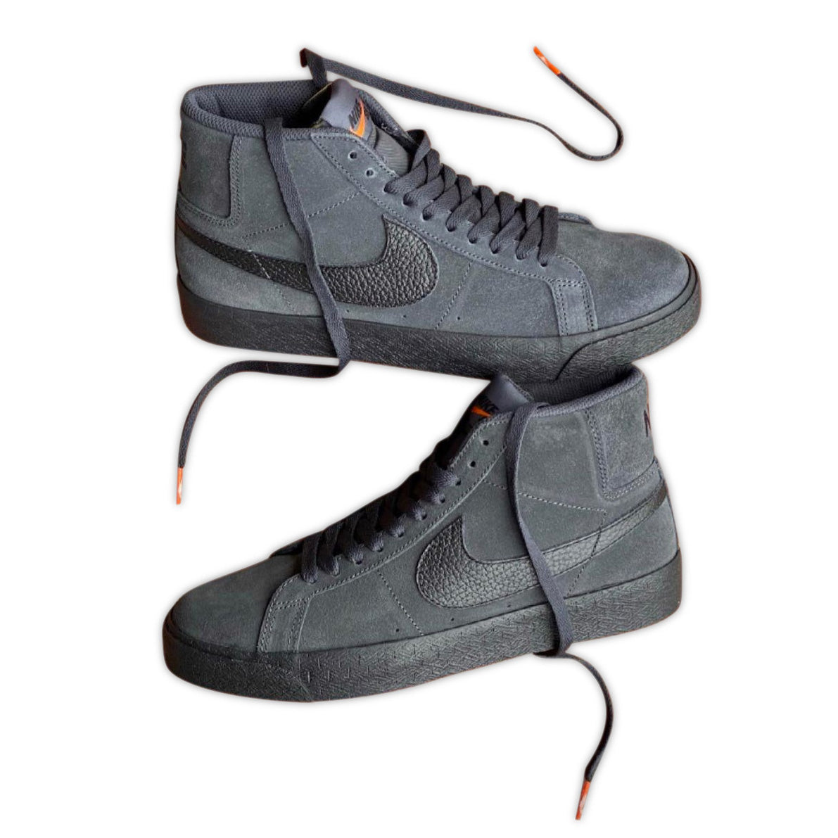 BLAZER MID ORANGE LABEL DARK SMOKE GREY