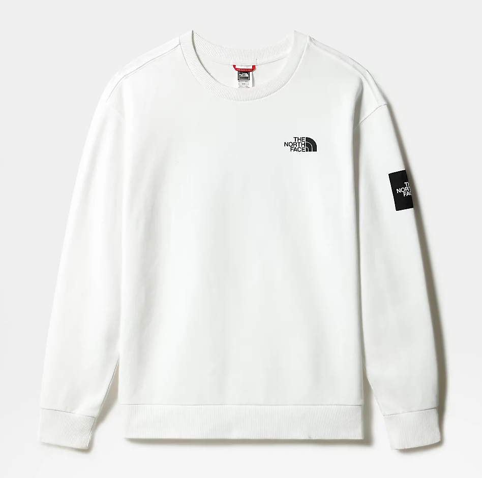 M BLACK BOX CREW FLEECE - EU TNF WHITE