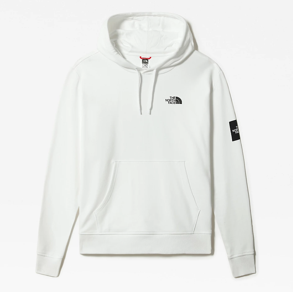 M BLACK BOX HOODIE FLEECE - EU TNF WHITE