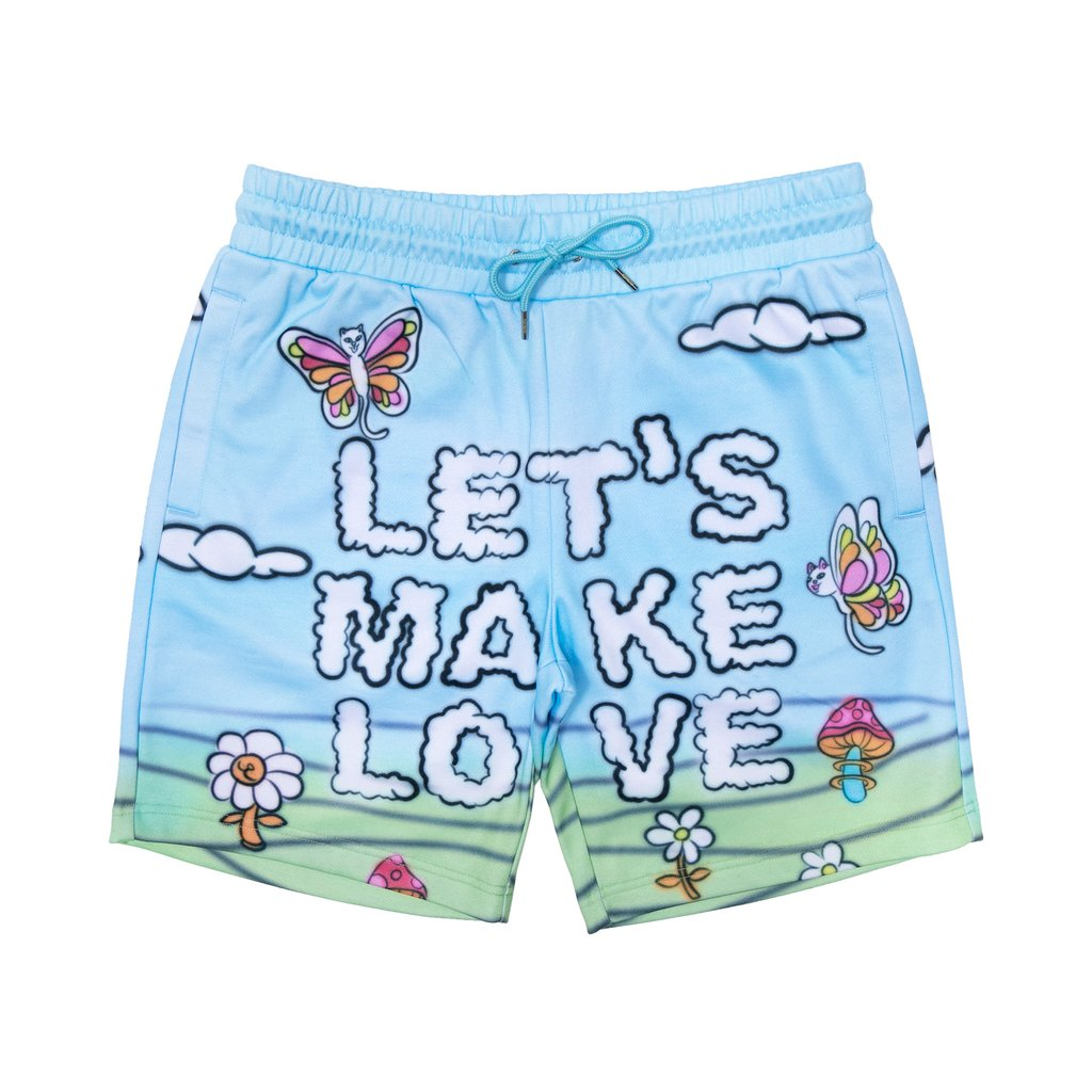 LETS MAKE LOVE SWEATSHORTS MULTICOLOR