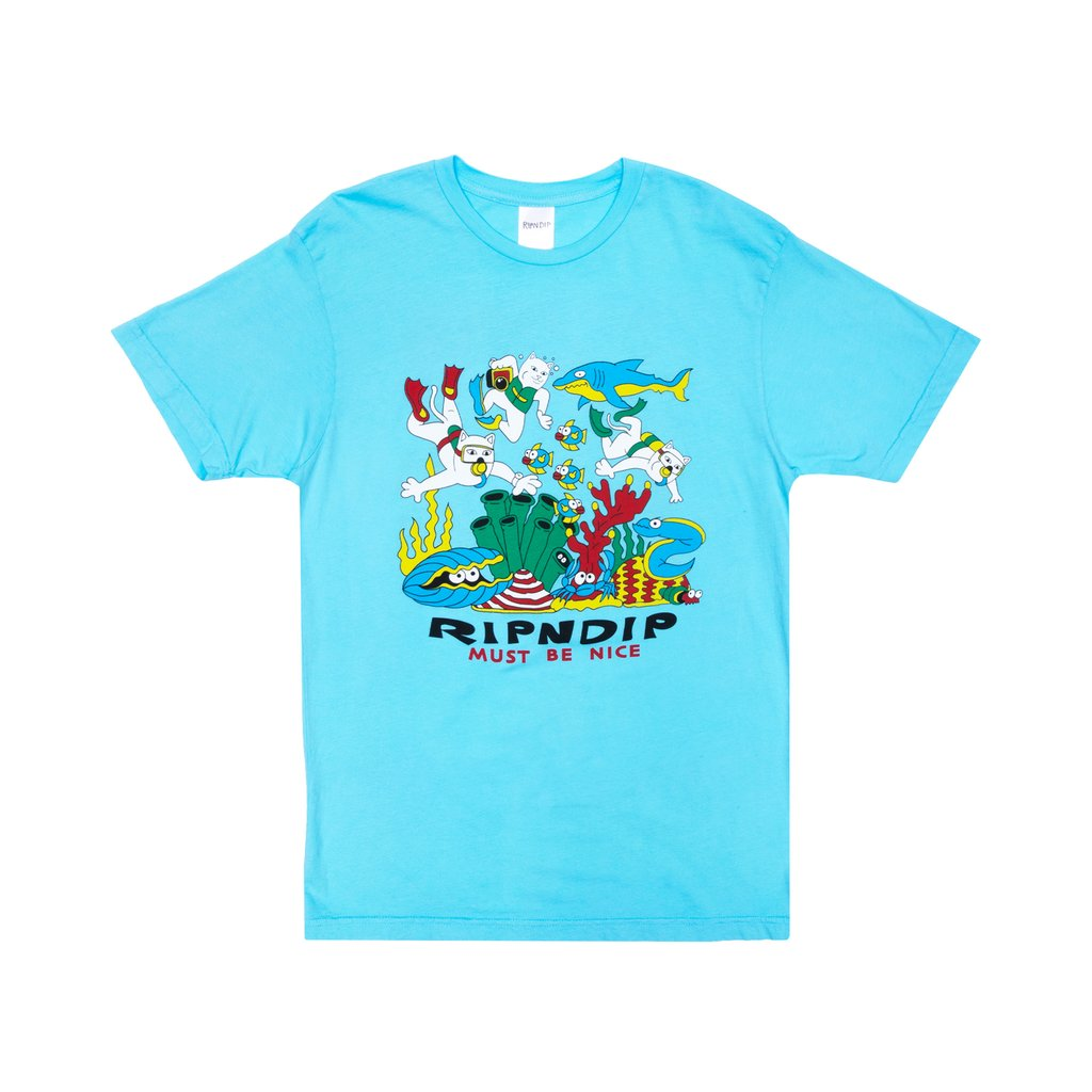 UNDER THE SEA TEE BABY BLUE