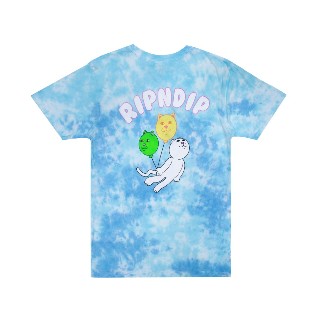 DRIFTING AWAY TEE BLUE TIE DYE
