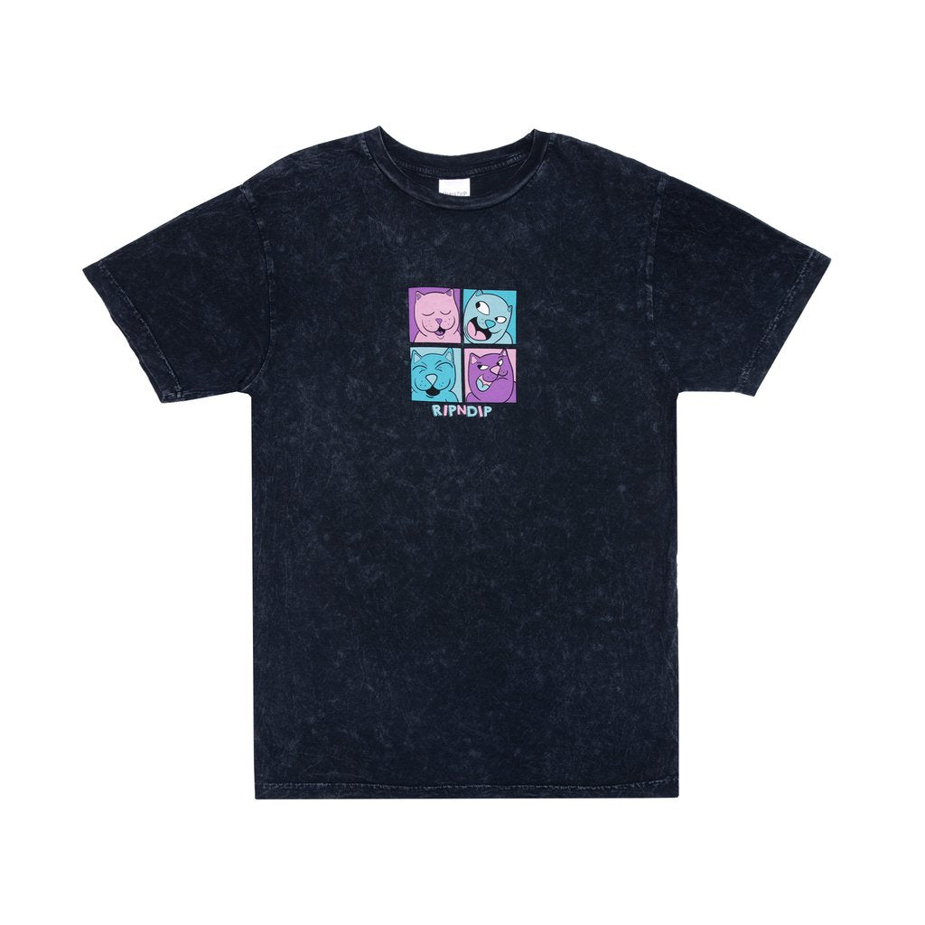POP NERM TEE BLACK MINERAL WASH