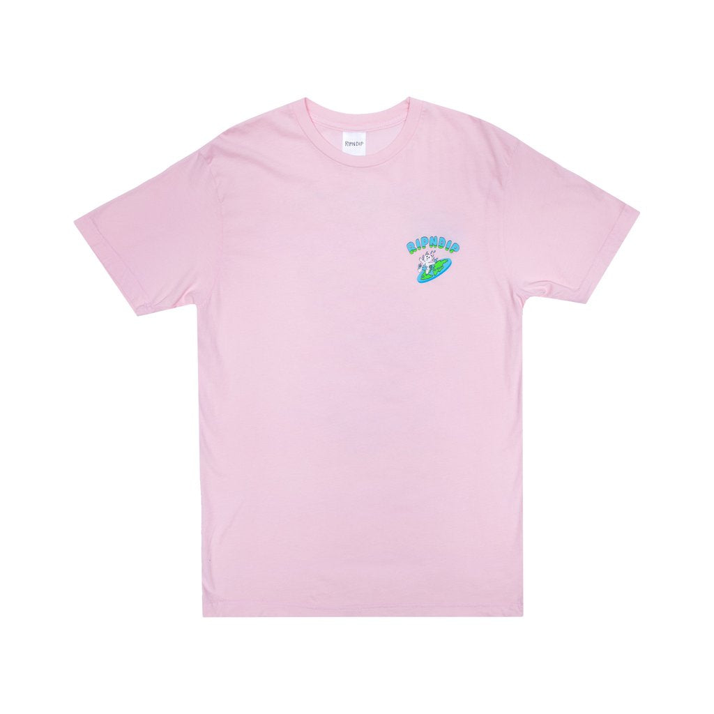 THE WORLD IS YOURS TEE LIGHT PINK