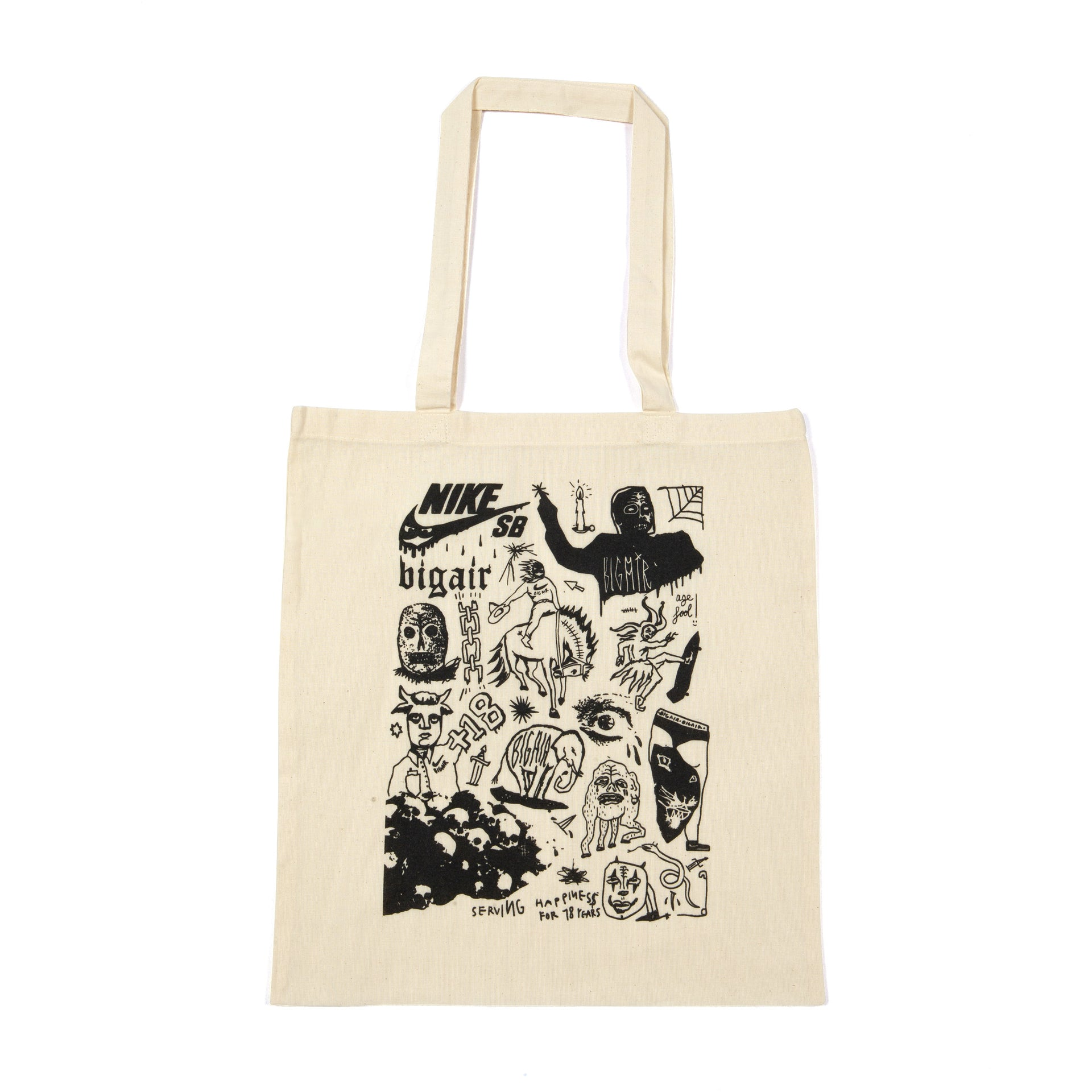 TOTE BAG BIG AIR LAB NATURAL 18 YEARS