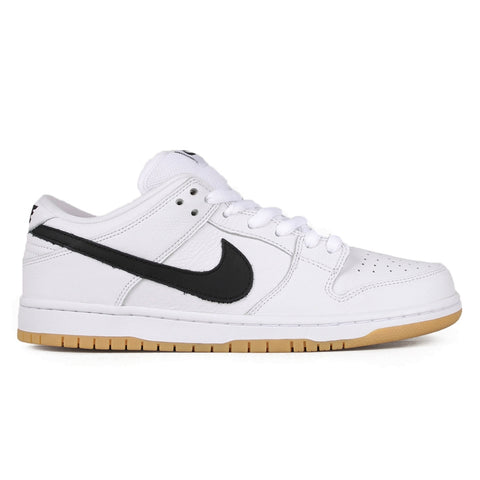 NIKE SB SU19 ORANGE LABEL DUNK LOW PRO ISO WHITE / BLACK - BLACK