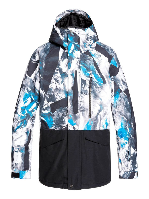 QUIKSILVER W20 GIACCA SNOW MISSION PRINTED BLOCK JK BNR7