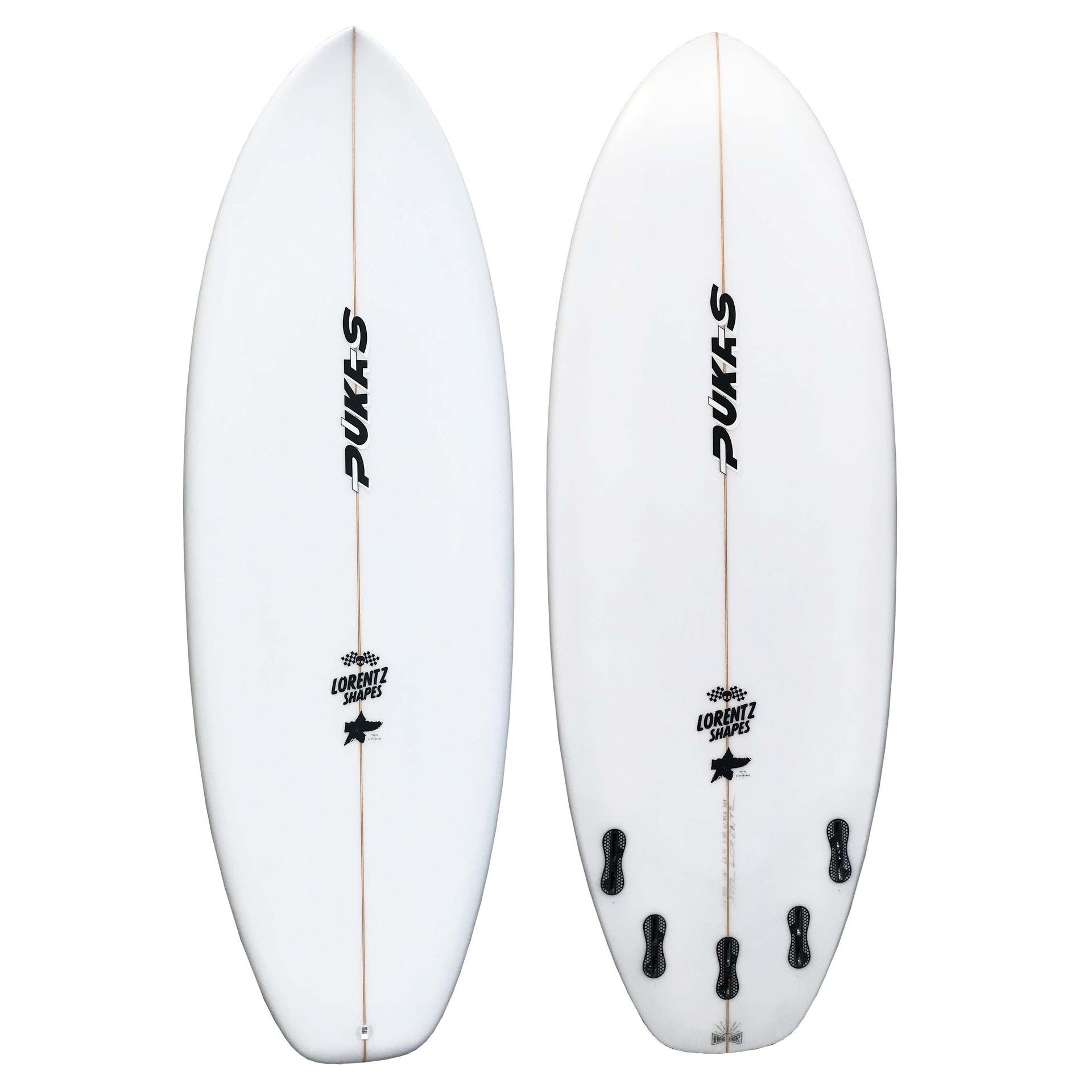 PUKAS SURFBOARD 5.08 HEAVEN'S DOOR SQ FCS2 5 FIN