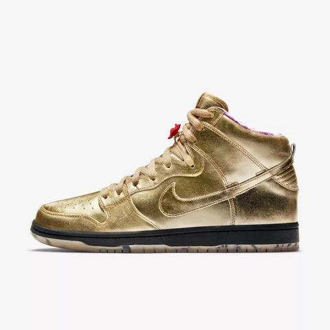 NIKE SB DUNK HIGH HUMIDITY QS METALLIC GOLD