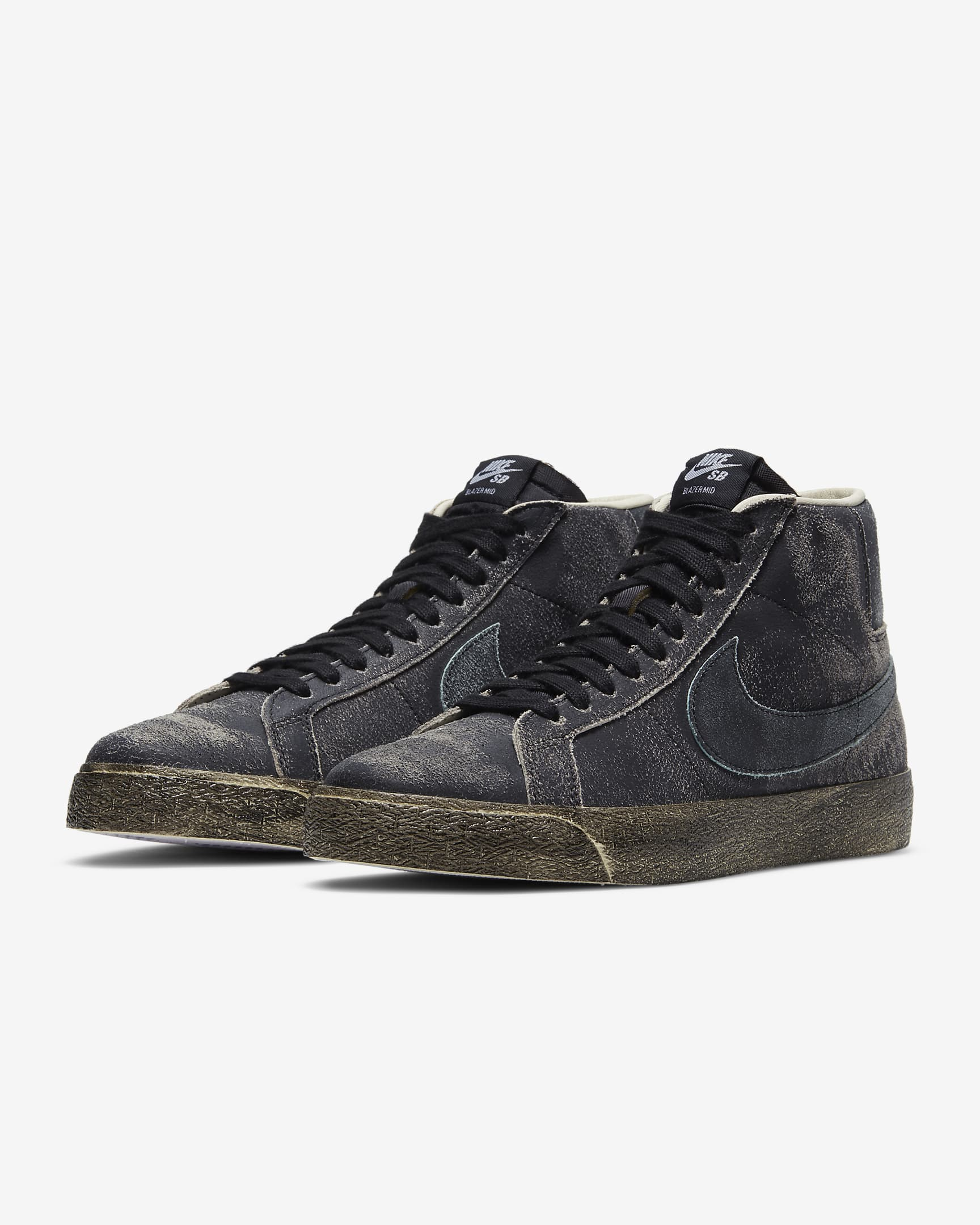 BLAZER MID PREMIUM BLACK / LIGHT DEW - COCONUT MILK