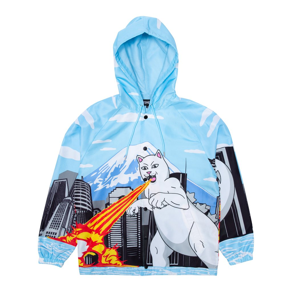 NERMZILLA HOODED COACH JACKET BABY BLUE