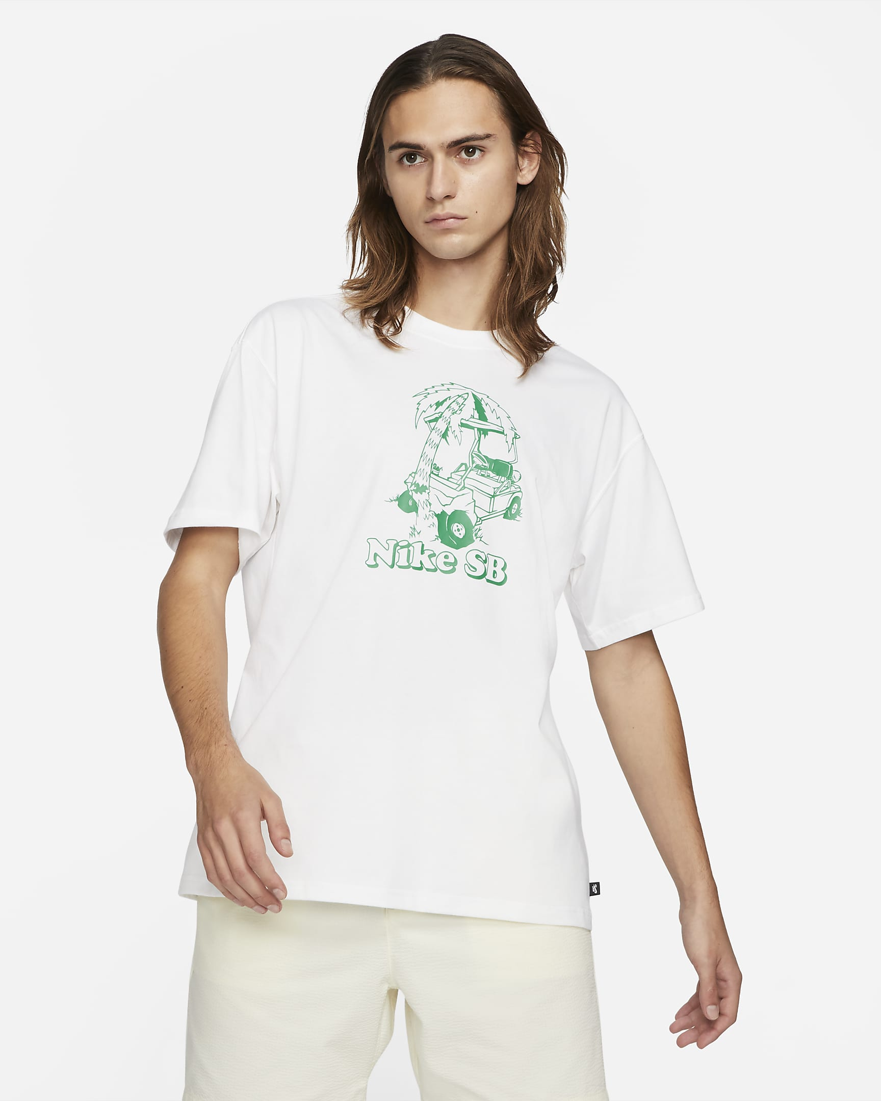 GOLF CAR TEE WHITE