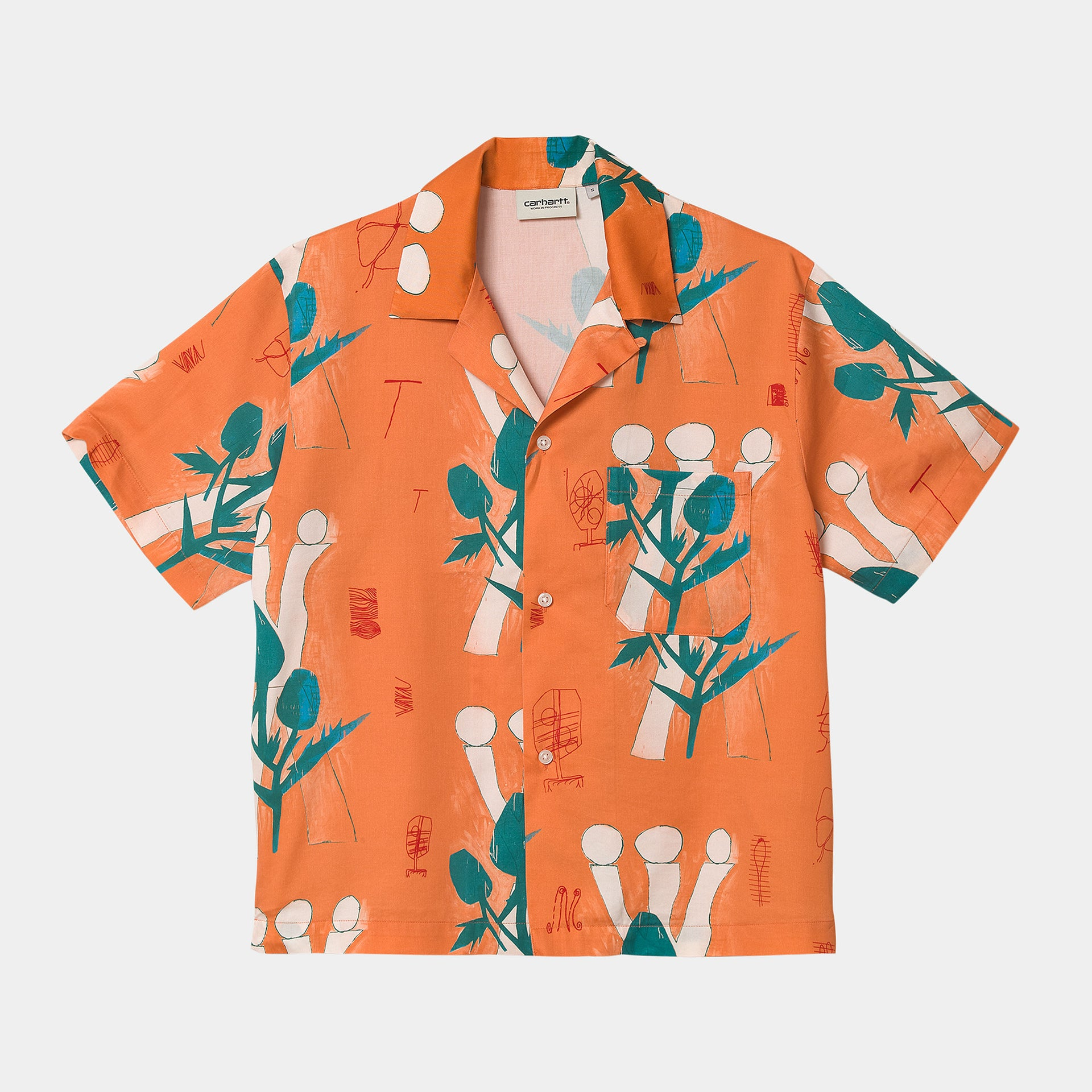 W' S/S TOM KROL FLOWERS SHIRT TOM KROL FLOWERS PRINT SHRIMP