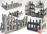 Ruined Buildings by Txarli Factory BattleBuilder Tech