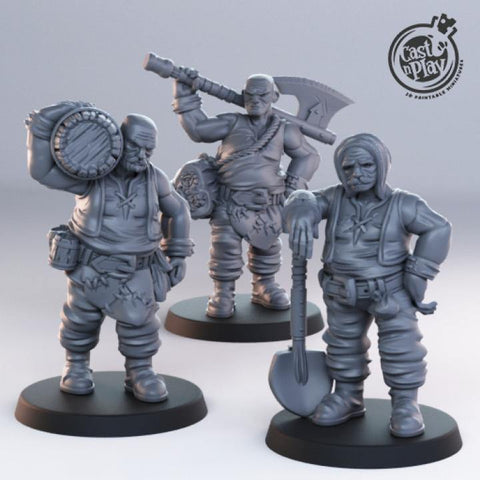 Male Townsfolk by Cast n Play, Townsfolk Collection