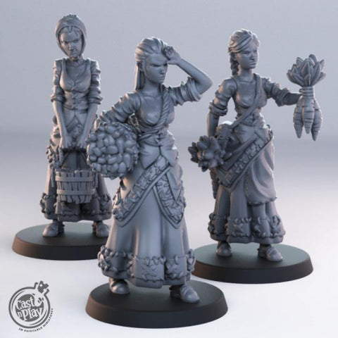 Female Townsfolk by Cast n Play, Townsfolk Collection - Mecha.Net Studios