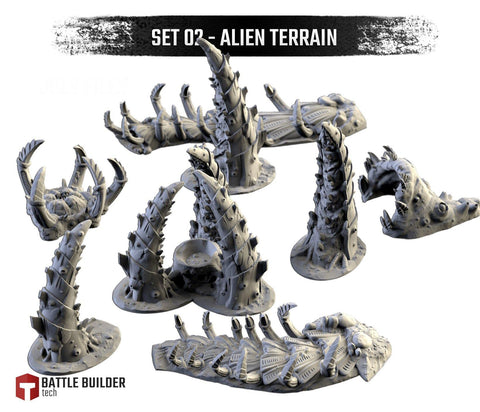Alien Terrain by Txarli Factory BattleBuilder Tech
